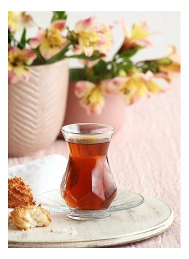 Lav Alya Çay Seti Çay Takımı - Çay Bardağı Takımı Tabağı 12 Prç. Renkli
